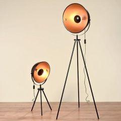 Stehleuchte Elias Stehlampe klein Lampe Leuchte Studiolampe Teleskoplampe Fotolampe Tripod Teleskop Studio