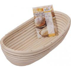 Gärkörbchen länglich Brotkorb Brotbackkorb Gärkorb aus natürlichem Peddigrohr 28 cm lang Brotform