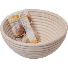 Gärkörbchen rund Brotkorb Brotbackkorb Gärkorb aus natürlichem Peddigrohr Durchmesser 18 cm Brotform