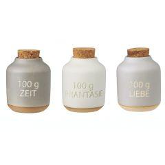 Gewürzdosen Set Landhaus Vorratsdosen 3 Stück Gewürzflaschen Gewürzbehälter Deckel Aufbewahrungsdose