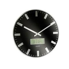 Wanduhr LCD Station schwarz Uhrzeit Zeitmesser Zeit Uhr Time