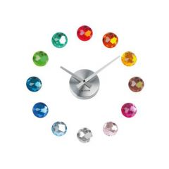 Karlsson Wanduhr DIY Diamonds multicolor Wanduhr Uhr Zeitmesser Zeitanzeiger Time Clock Diamanten