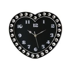 Wanduhr Heart Diamonds Wanduhr Herz Designeruhr Uhr Clock Diamonds Kunststoff Time