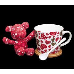 """Geschenk-Set """"Love you"""" Becher Tasse Geschenk Set Liebe Teddy"""