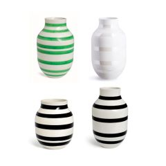 Vase Omaggio Blumenvase Tischvase skandinavisches Design Dekoration schwarz weiß grün perlmutt