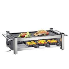 Raclette Taste 8 Pfännchen Racletteschaber Grillplatte Tischgrill
