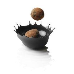 Schale Dropp snow white weiß schwarz Schüssel Obstschale Aufbewahrung Silikon Schälchen Obst