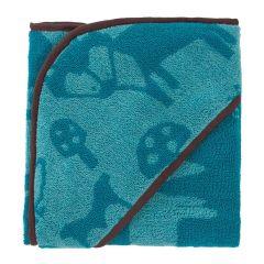 Baby Handtuch Forest mit Kapuze Baumwolle Babyhandtuch 85x85 cm Bademantel Badetuch Kapuzenhandtuch