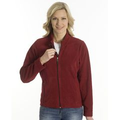 SNAP Fleece-Jacke Arosa Women, Dunkelrot, Grösse XL