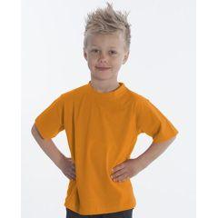 SNAP T-Shirt Basic-Line Kids, Gr. 128, Farbe orange