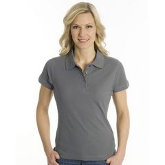 SNAP Polo Shirt Top-Line Women stahlgrau, Grösse S
