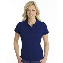 SNAP Polo Shirt Top-Line Women tiefdruckfarbe blau, Grösse L