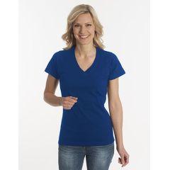 Damen T-Shirt Flash-Line, V-Neck, navy, Grösse S