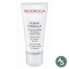 Biodroga Puran Formula 24-Stunden Pflege unreine, fettige, Mischhaut - 40 ml