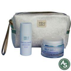 Rosa Graf Kosmetiktasche Blue Line mit 2 Produkten