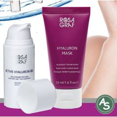 Rosa Graf Hyaluron Pflegeset Hyaluron Gel und Hyaluron Maske