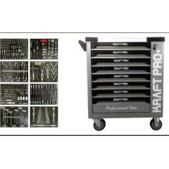 Werkstattwagen mit Werkzeug 8 Schubladen Voll in Carbon Look