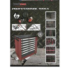 Werkzeugwagen+Werkzeug 376 Teil+Schaumstoffeinlagen