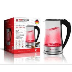 Wasserkocher Teekocher Edelstahl 1,8 L Glas LED Kocher schnurlos kabellos 2000W
