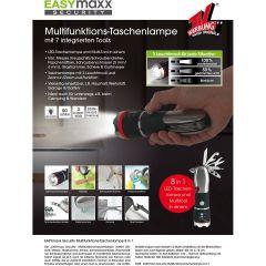 EASYmaxx 03985 Security Multifunktions-Taschenlampe 8in1 | Inklusive Messer, ...