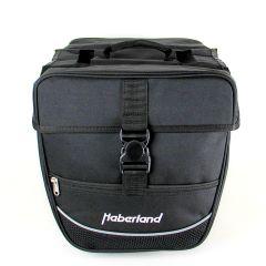 Haberland Fahrrad Doppeltasche Packtaschen Touring Schwarz