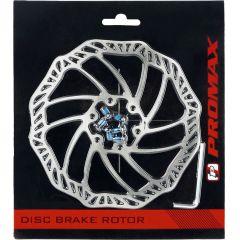 Bremsscheibe 160mm Disc Brake waved shape Edelstahl, 6-Loch incl.Schrauben