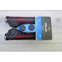 Fahrradgriffe Schraubgriffe Ergonomisch Ergonomic 130mm Schwarz Rot