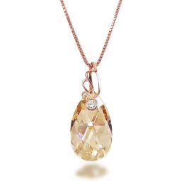 Swarovski® Kristall Tropfen Anhänger und Halskette in 925 Silber rosegold plattiert