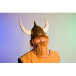Bartset Wikinger - Schnurrbart und Kinnbart im Set - rotbraun