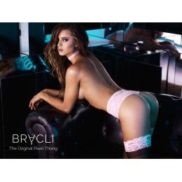 Bracli® Perlenstring Panty HIPNOSIS - limited Edition mit rosa eingefärbten Perlen