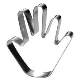Ausstechform - Hand - Metall - 7 cm - Plätzchenform