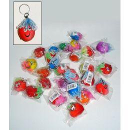 10 x - Kleine Knautschgesichter an Schlüsselkette - Knautschbälle - 10 Stück