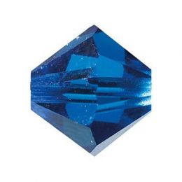 Swarowski Doppelkegel capri blue