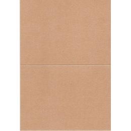 Papierkarte, B6, metallic, bronze, Klondike 120g