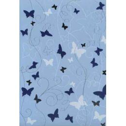 A4 Crea motions Schmetterling 220g Flockdruck, Silberdruck