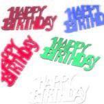 Happy Birthday bunt Tischstreu