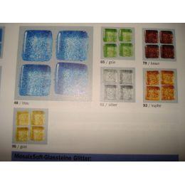 Mosaix Soft-Glassteine Glitter 10 x10 mm