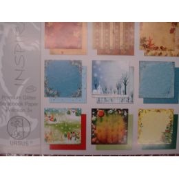 Premium Glitter Scrapbookpapier  Version 3 WINTER/HERBST