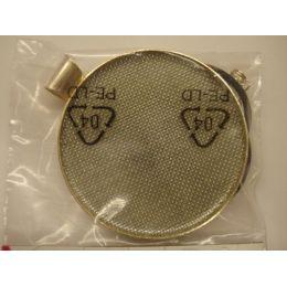 Collier mit Siebeinlage versilbert incl. Schmuckband 49 mm rund