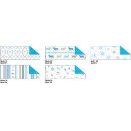 Fotokarton 300g/m² Schneeflocken blau / braun Motiv 03