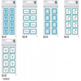 Kreativ Sticker Fisch Serie  Glory, petrol, selbstklebend