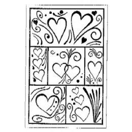 Stempel Mosaik mit Herzen 7 cm