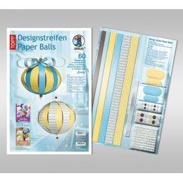 Designstreifen Paper Balls Set Emily
