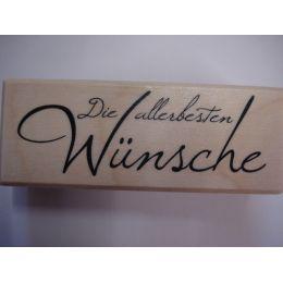 Holz Schriftstempel Die allerbesten Wünsche