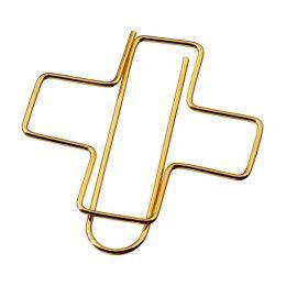 Dekoklammer Kreuz gold