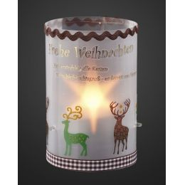 Sternentraum Windlichtfolie, Ø 10 cm, mit Teelichteinsatz