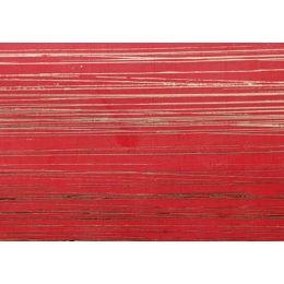 Verzierwachs gemustert rot