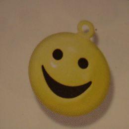 Metallglöckchen Smiley gelb