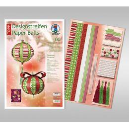 Designstreifen Paper Balls Set Traditional Christmas