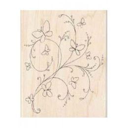 Holzstempel BUTTERFLY FLOURISH